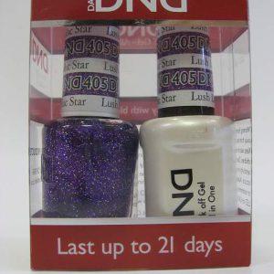 DND Gel Polish / Nail Lacquer Duo - 405 Lush Lilac Star