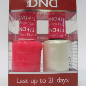 DND Gel Polish / Nail Lacquer Duo - 413 Flamingo Pink