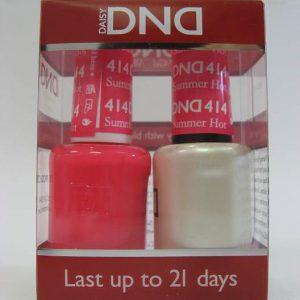 DND Gel Polish / Nail Lacquer Duo - 414 Summer Hot Pink