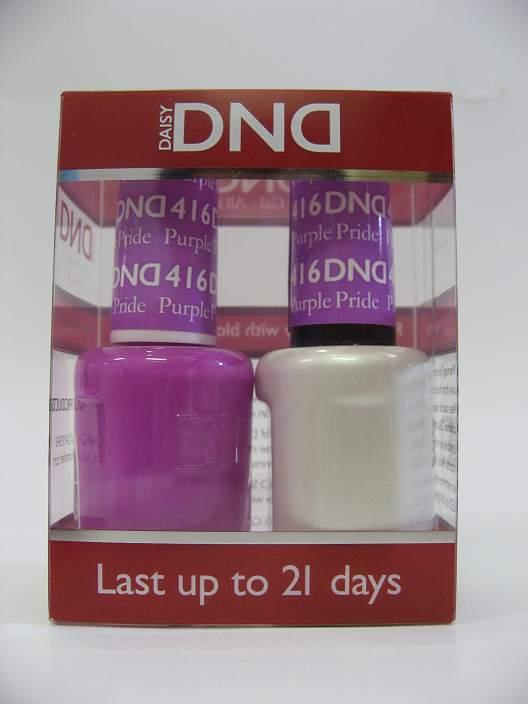 DND Gel Polish / Nail Lacquer Duo - 416 Purple Pride
