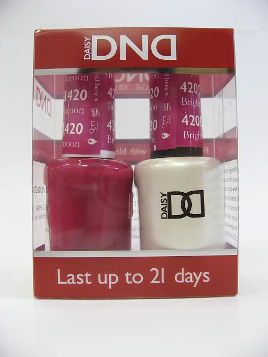 DND Gel Polish / Nail Lacquer Duo - 420 Bright Maroon