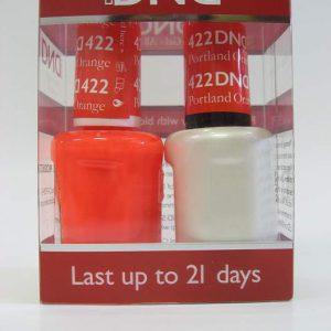 DND Gel Polish / Nail Lacquer Duo - 422 Portland Orange