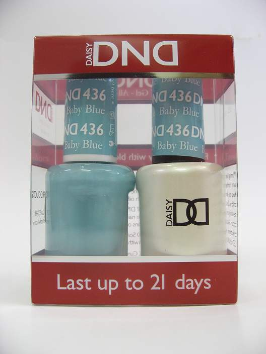 DND Soak Off Gel & Nail Lacquer 436 - Baby Blue