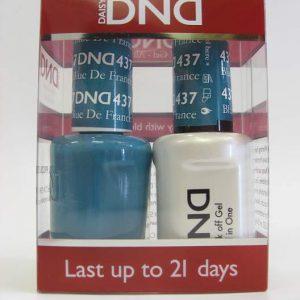DND Soak Off Gel & Nail Lacquer 437 - Blue De France