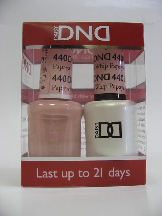 DND Soak Off Gel & Nail Lacquer 440 - Papaya Whip