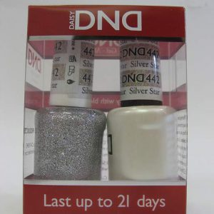 DND Soak Off Gel & Nail Lacquer 442 - Silver Star