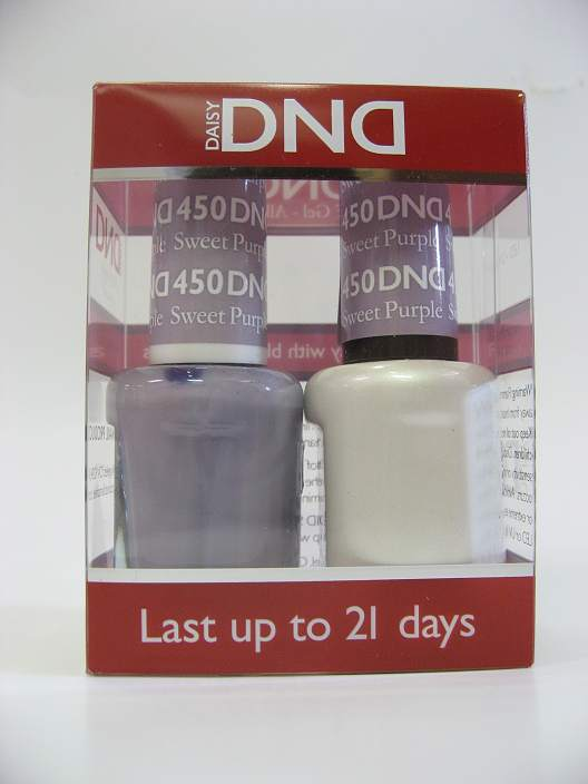 DND Soak Off Gel & Nail Lacquer 450 - Sweet Purple