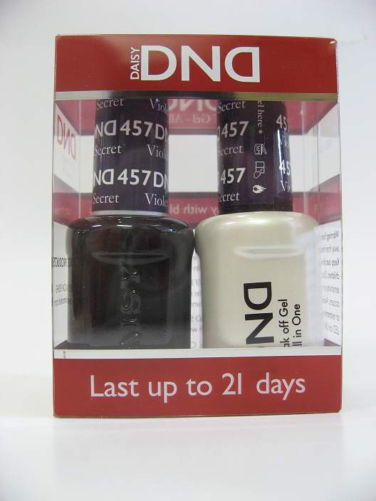 DND Soak Off Gel & Nail Lacquer 457 - Violet's Secret