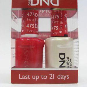 DND Soak Off Gel & Nail Lacquer 475 - Fiery Fuschia