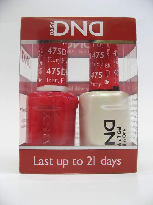 DND Soak Off Gel & Nail Lacquer 475 - Fiery Fuschia