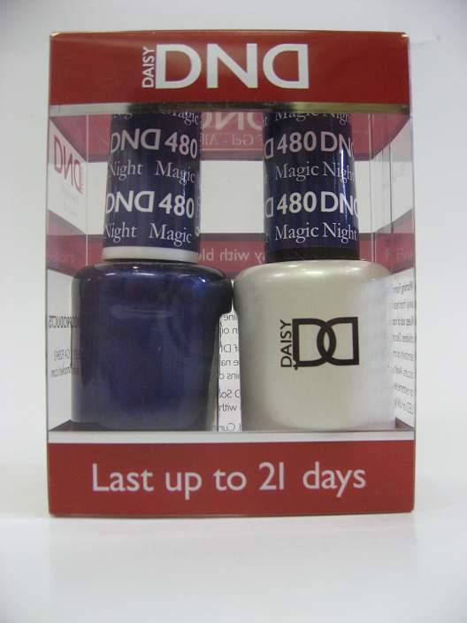 DND Soak Off Gel & Nail Lacquer 480 - Magic Night