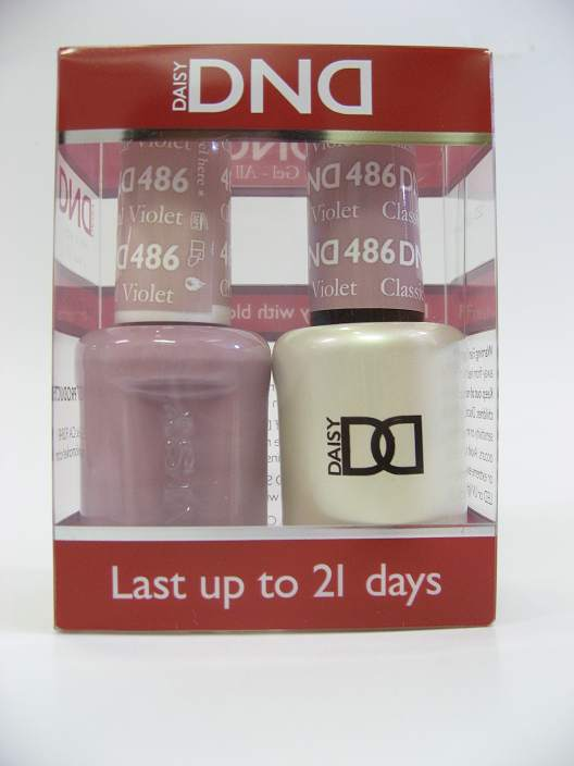 DND Gel Polish / Nail Lacquer Duo - 486 Classical Violet