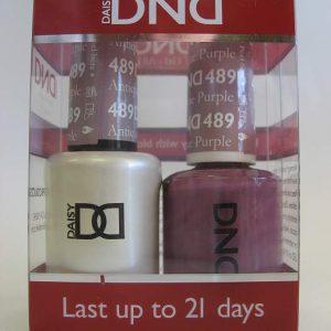DND Soak Off Gel & Nail Lacquer 489 - Antique Purple