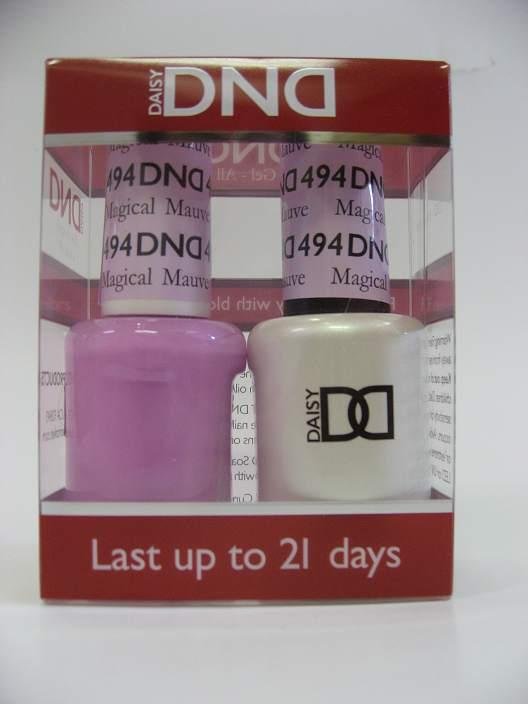 DND Soak Off Gel & Nail Lacquer 494 - Magical Mauve