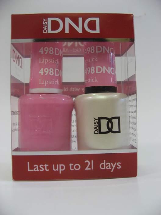 DND Soak Off Gel & Nail Lacquer 498 - Lipstick