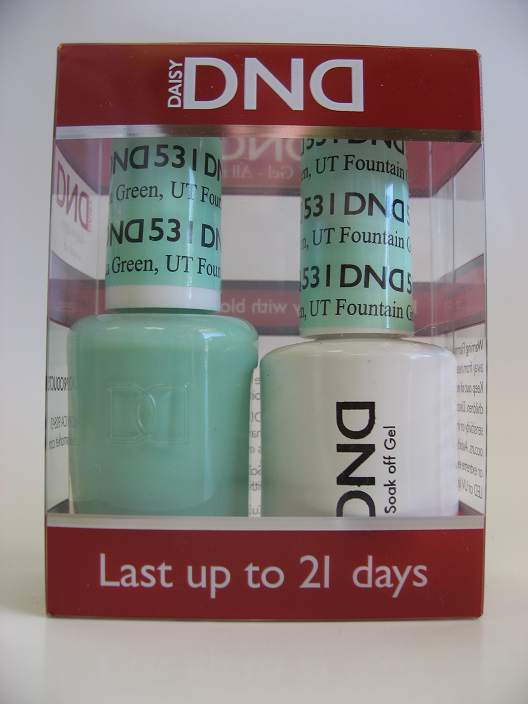 DND Soak Off Gel & Nail Lacquer 531 - Fountain Green, UT