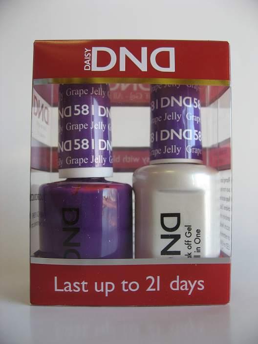 Dnd Soak Off Gel Amp Nail Lacquer 581 Grape Jelly Manicure Pedicure