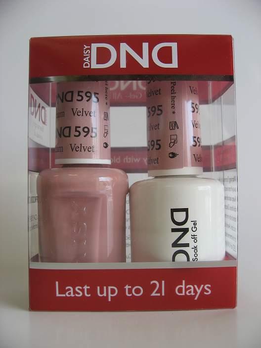 DND Gel & Polish Duo 595 - Velvet Cream