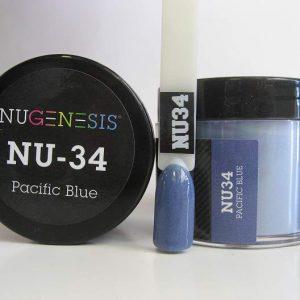 NuGenesis Dipping Powder - Pacific Blue NU-34