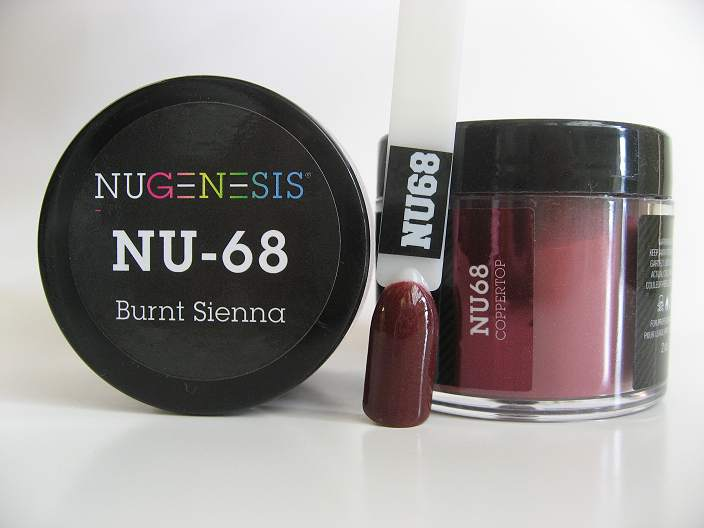 Nugenesis Dipping Powder Nu68 Burnt Sienna Manicure