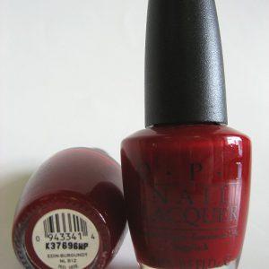 OPI B12 Edin-burgundy