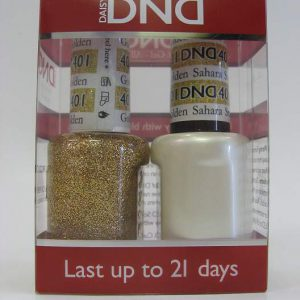 DND Gel Polish / Nail Lacquer Duo - 401 Golden Sahara Star