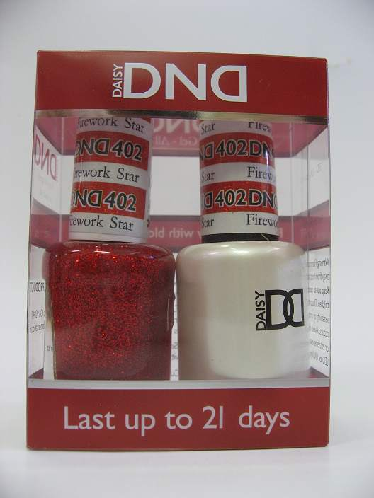 DND Gel Polish / Nail Lacquer Duo - 402 Firework Star