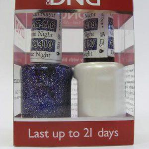 DND Gel Polish / Nail Lacquer Duo - 410 Ocean Night Star