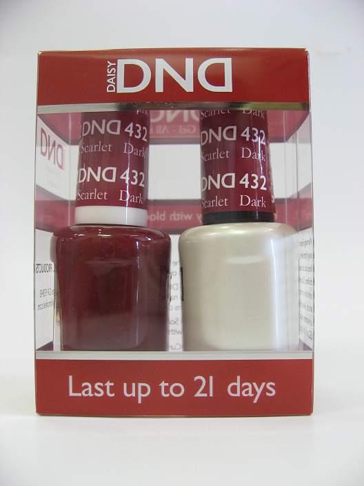 DND Soak Off Gel & Nail Lacquer 432 - Dark Scarlet