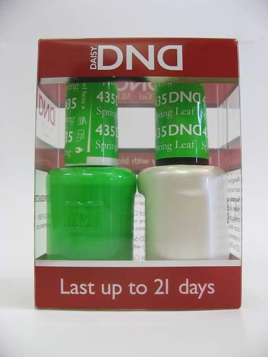 DND Soak Off Gel & Nail Lacquer 435 - Spring Leaf