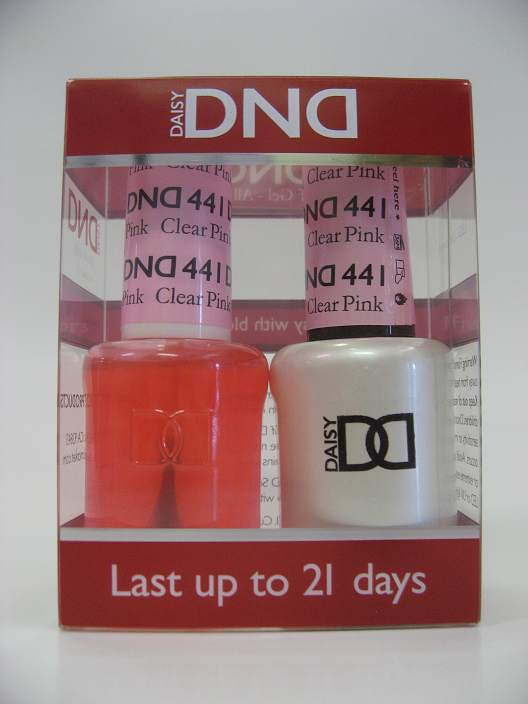Dnd Soak Off Gel Amp Nail Lacquer 441 Clear Pink Manicure Pedicure