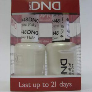 DND Soak Off Gel & Nail Lacquer 448 - Snow Flakes