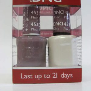 DND Soak Off Gel & Nail Lacquer 453 - Plum Wine
