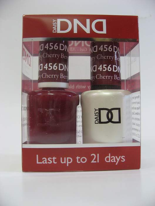 DND Soak Off Gel & Nail Lacquer 456 - Cherry Berry