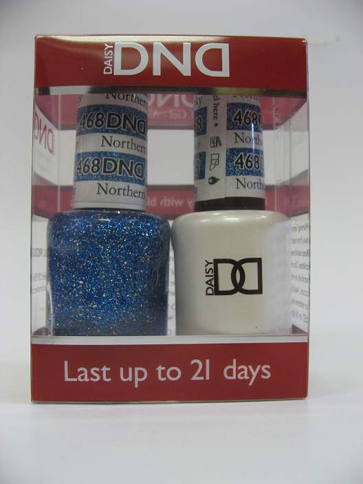 DND Soak Off Gel & Nail Lacquer 468 - Northern Sky