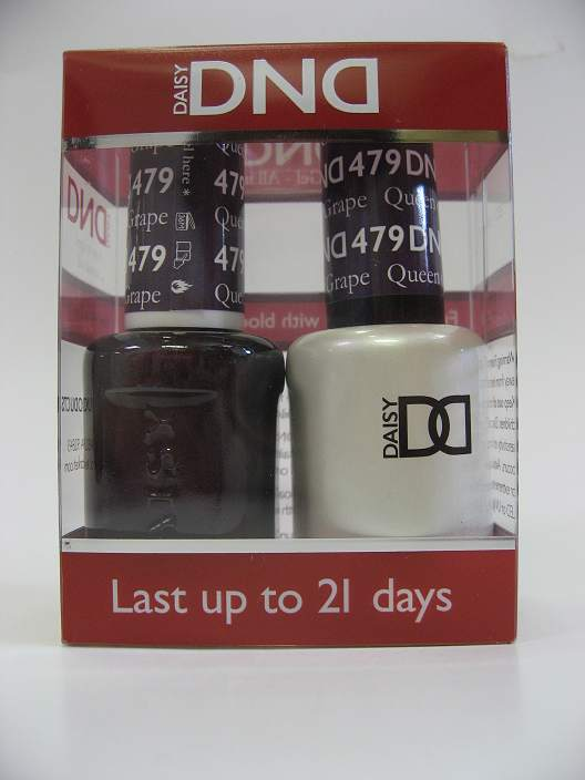 DND Soak Off Gel & Nail Lacquer 479 - Queen Of Grape