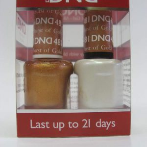 DND Soak Off Gel & Nail Lacquer 481 - Burst Of Gold