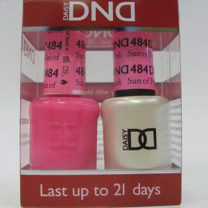 DND Gel Polish / Nail Lacquer Duo - 484 Sun of Pink