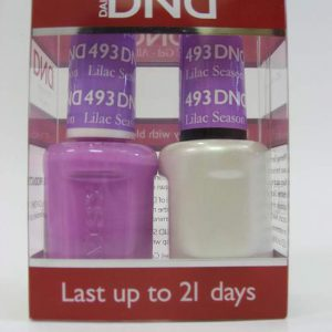 DND Soak Off Gel & Nail Lacquer 493 - Lilac Season