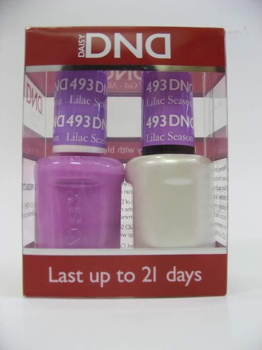 DND Soak Off Gel & Nail Lacquer 493 - Lilac Season