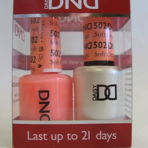 DND Soak Off Gel & Nail Lacquer 502 - Soft Orange