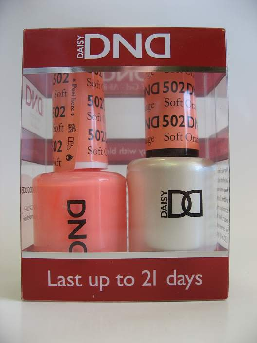 DND Soak Off Gel & Nail Lacquer 502 - Soft Orange