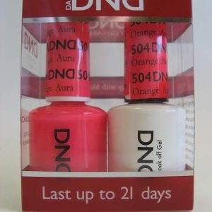 DND Soak Off Gel & Nail Lacquer 504 - Orange Aura