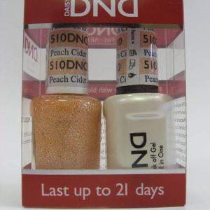 DND Soak Off Gel & Nail Lacquer 510 - Peach Cider
