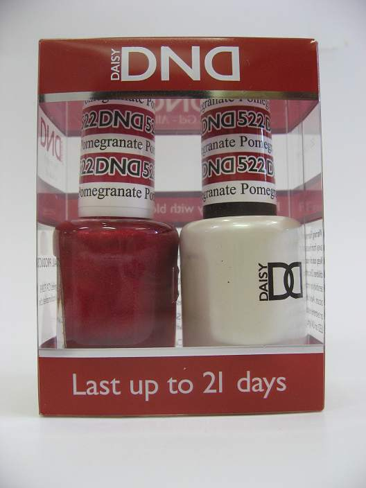 DND Soak Off Gel & Nail Lacquer 522 - Pomegranate