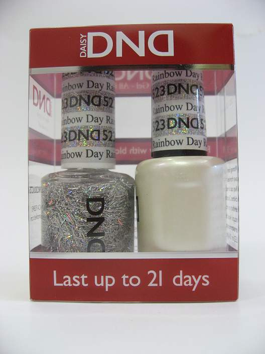 DND Soak Off Gel & Nail Lacquer 523 - Rainbow Day