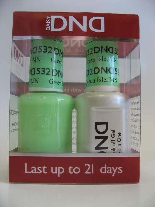 DND Soak Off Gel & Nail Lacquer 532 - Green Isle, MN