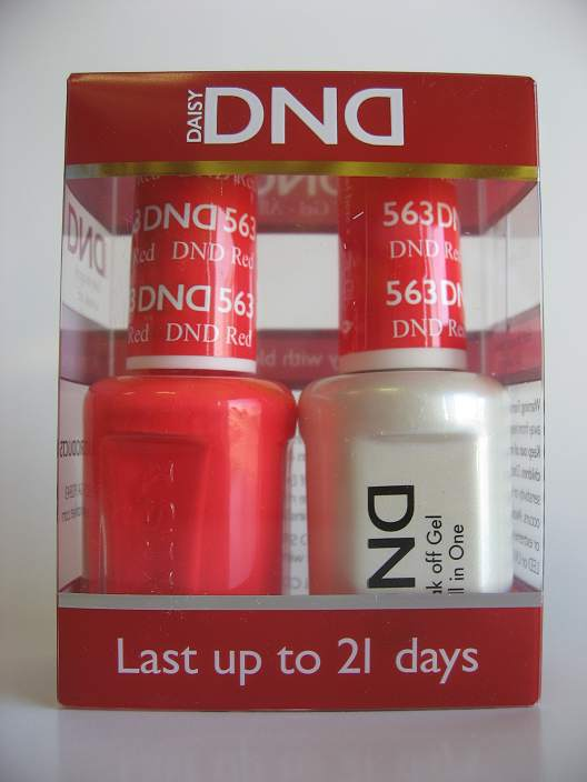 DND Gel & Polish Duo 563 - DND Red