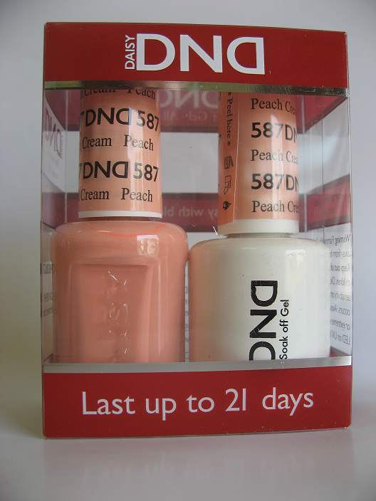 DND Gel & Polish Duo 587 - Peach Cream