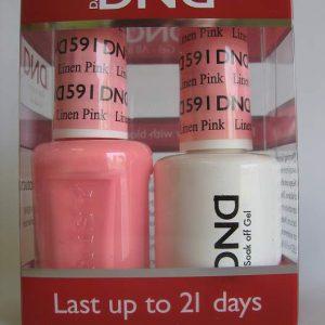 DND Gel & Polish Duo 591 - Linen Pink